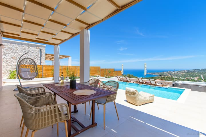 NEW Villa★Prv Glass Infinity Pool★Jacuzzi★SeaView★