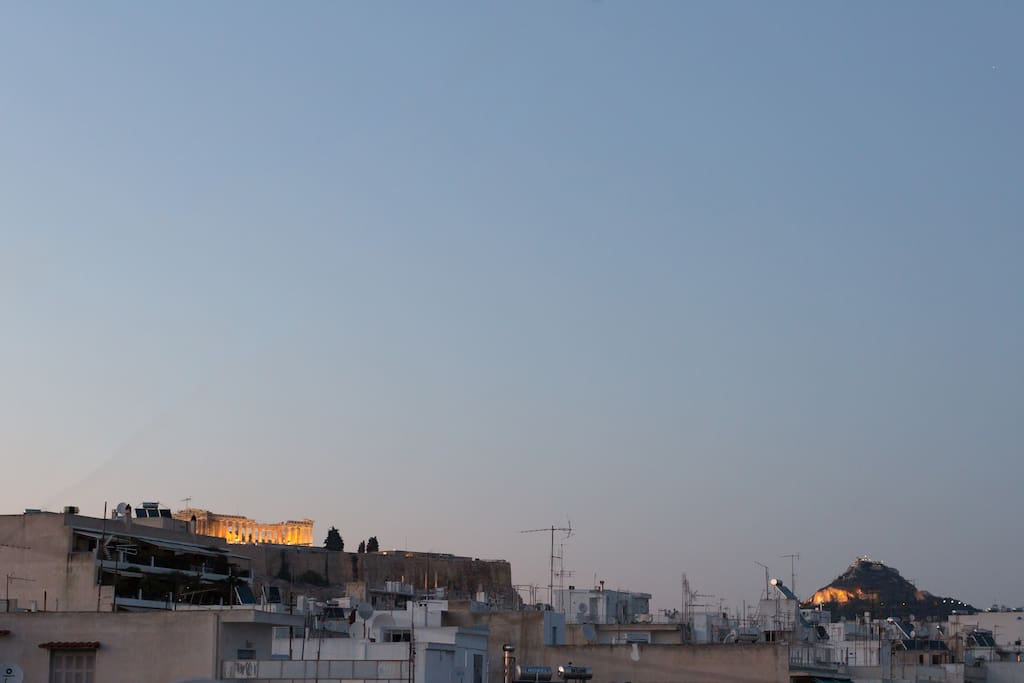 Acropolis view just after the sunset