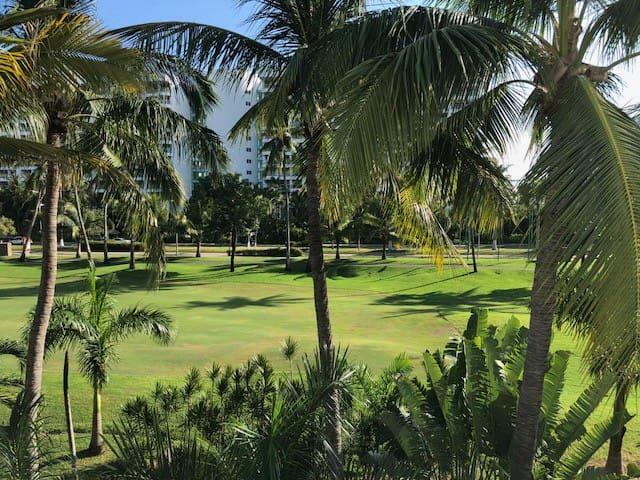 Vista campo de golf desde toda la casa
