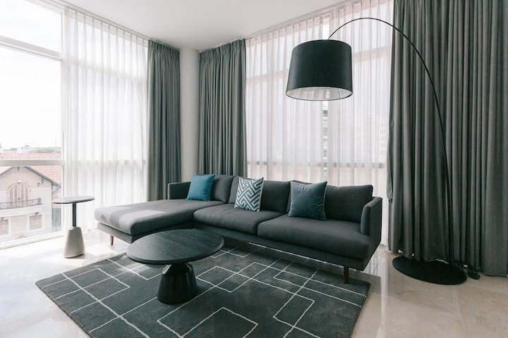 Spacious and Bright living room - perfect for relaxing after a day exploring the city
