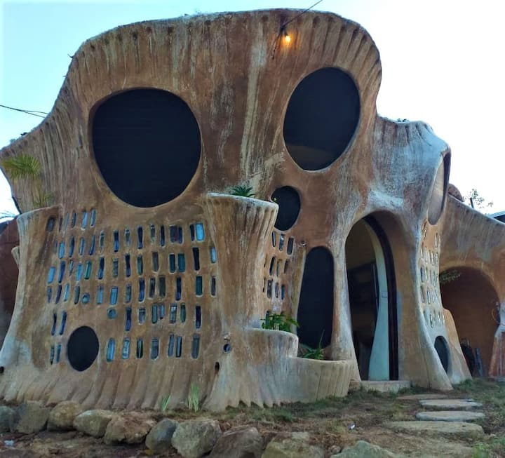 Earthship Dome House for Rent near Santa Teresa