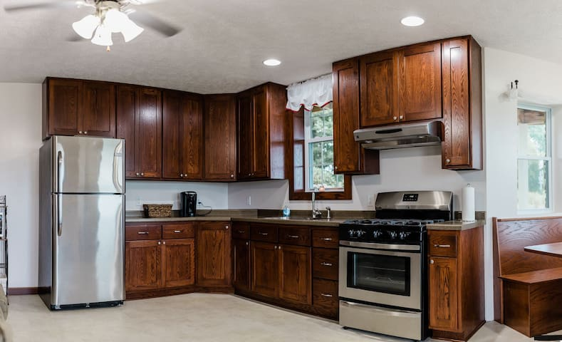 The full kitchen in the walkout basement