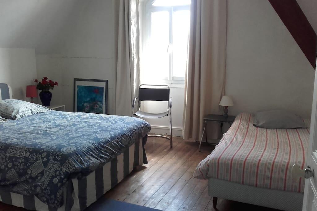 chambre 2, lit double, lit simple