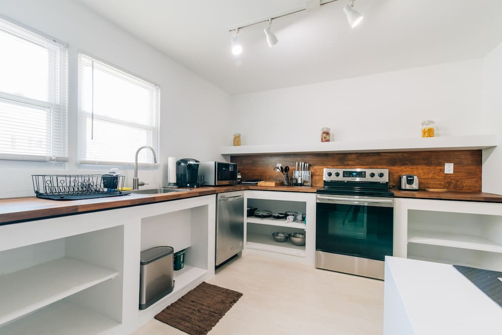Fully equipped kitchen to prepare anything from coffee to your favorite meal