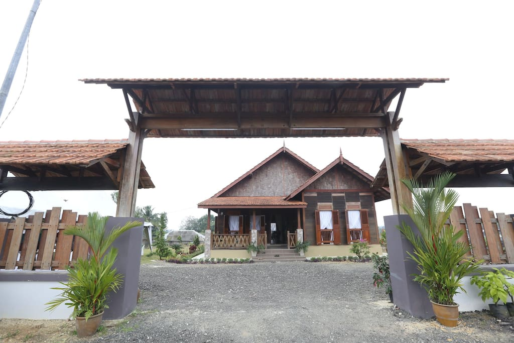 Rumah Kayu Entrance