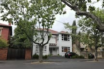 The Building is from 1920's, only 4 apartments, on a leafy, quiet street between Botanic Gardens and Faulkner Park, South Yarra's most desirable residential streets of Domain Precinct
