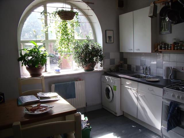Light, airy, double aspect ground floor flat