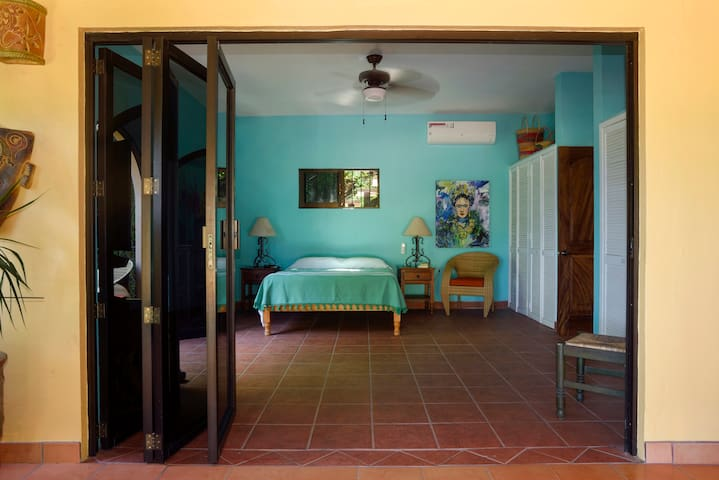 The Master bedroom with a visit with Frida Kahlo...