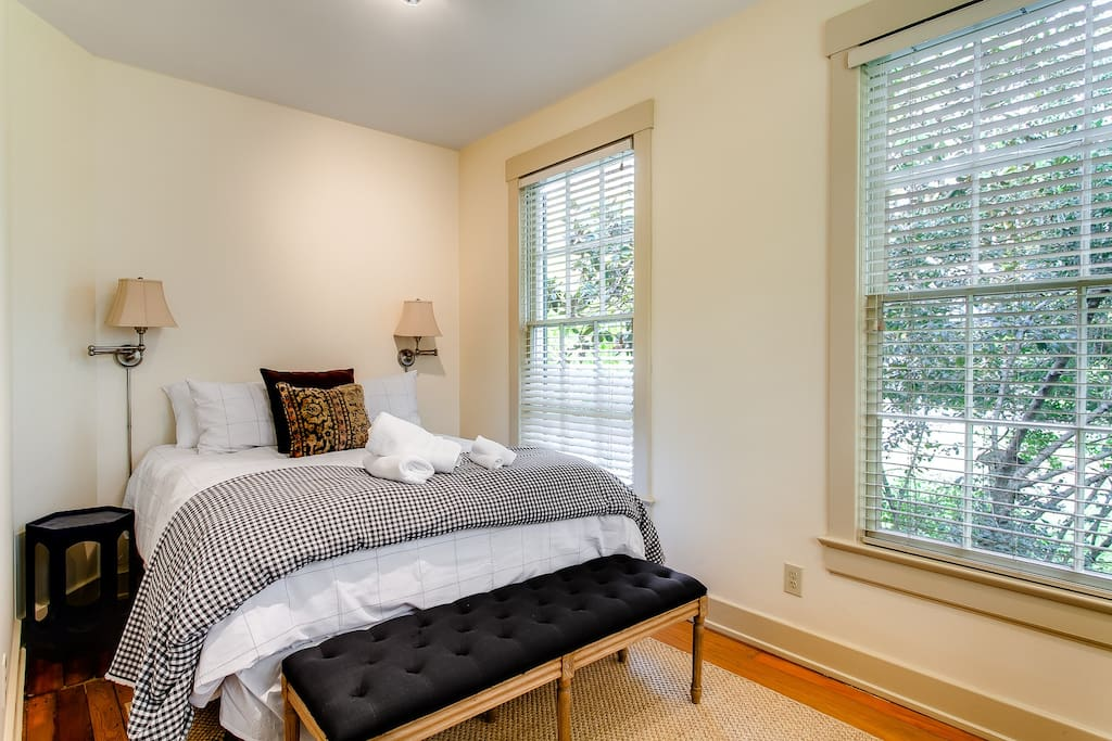 Bedroom 1 has two windows for you to enjoy the outdoor scenery.