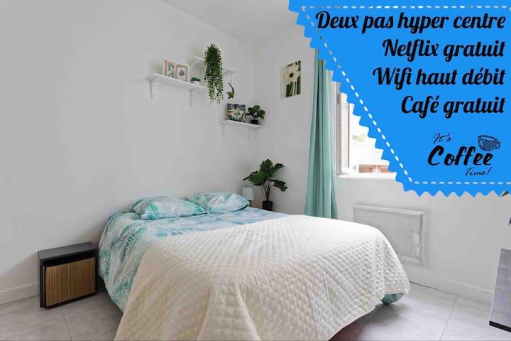 LA RIVIÈRE ❤️ jardin - centre ville ✳️ NETFLIX-WiFi
