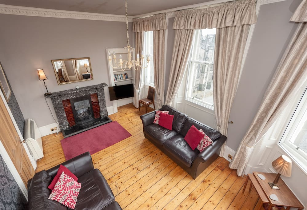Very comfortable lounge with incredible views of the historic Royal Mile below