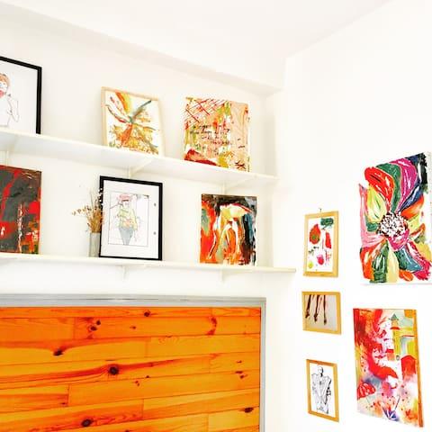 MARAIS ❤︎PARIS Private studio w Private kitchen,WC