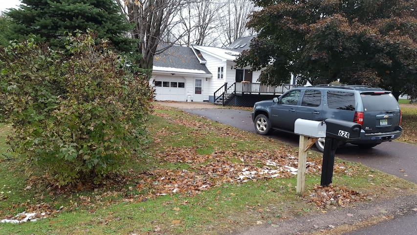 Parking in driveway.