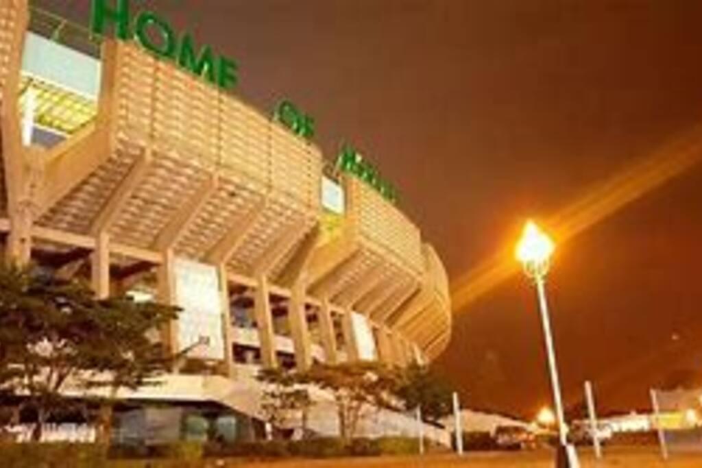 Kasarani stadium 5 mins drive away