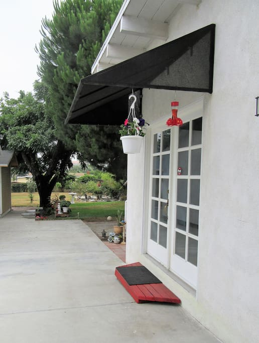 Guest house. Your private entrance through the very safe, gated backyard.