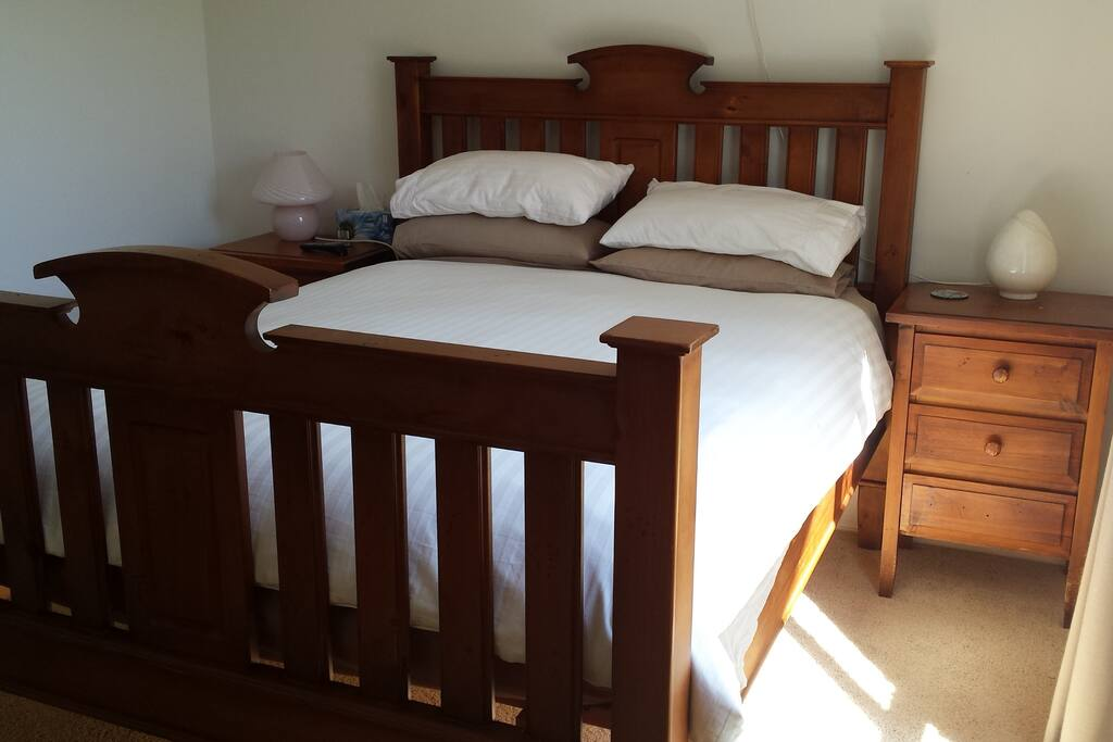 Bedroom 1 - Queen Bed for 2 Adults with TV