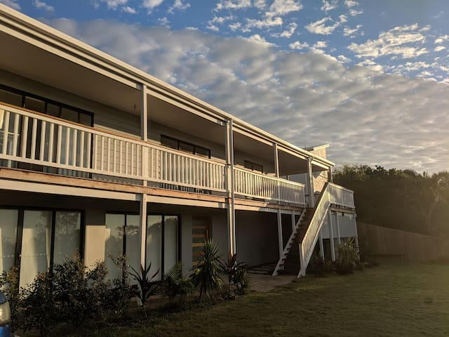 Peregian Paradise with pool and water views