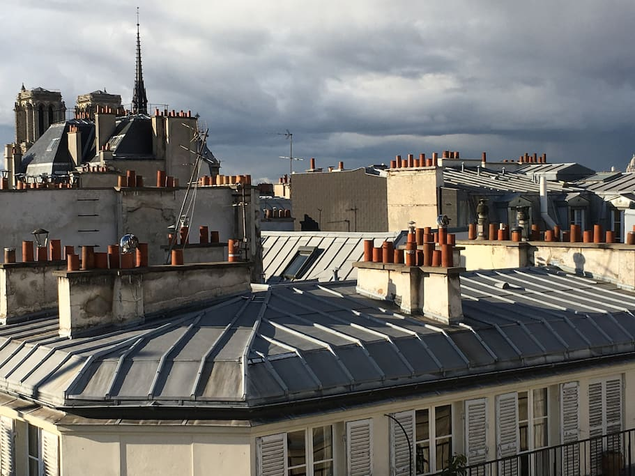 View : Notre-Dame's towers from the duplex