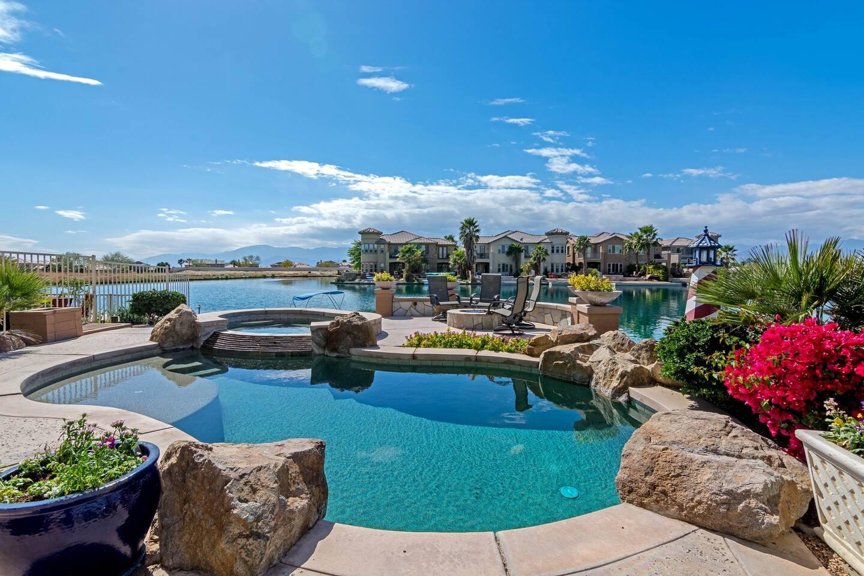 Backyard Pool and Spa with amazing views!