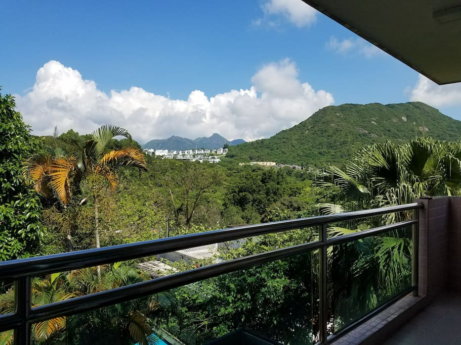 The view from the big balcony