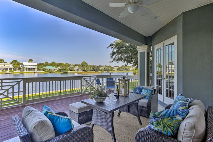 NEW! Sandestin Resort Waterfront Condo w/ Deck!