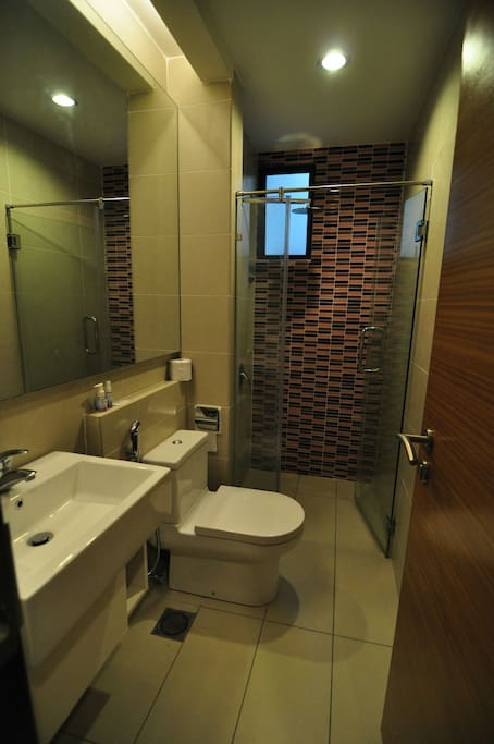 1st room bathroom with hot/cold shower