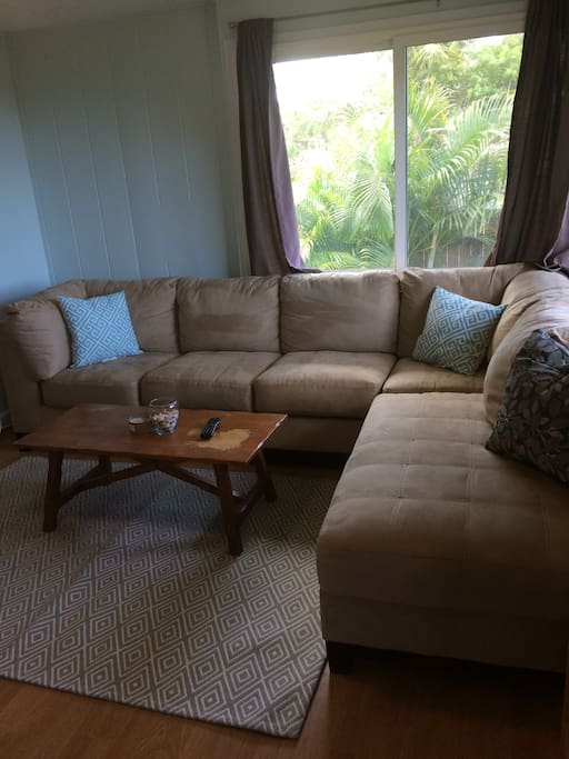 Living Room with a big L shaped couch
