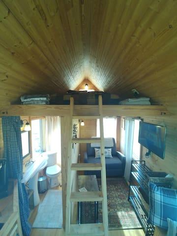 Tiny house loft and ladder!