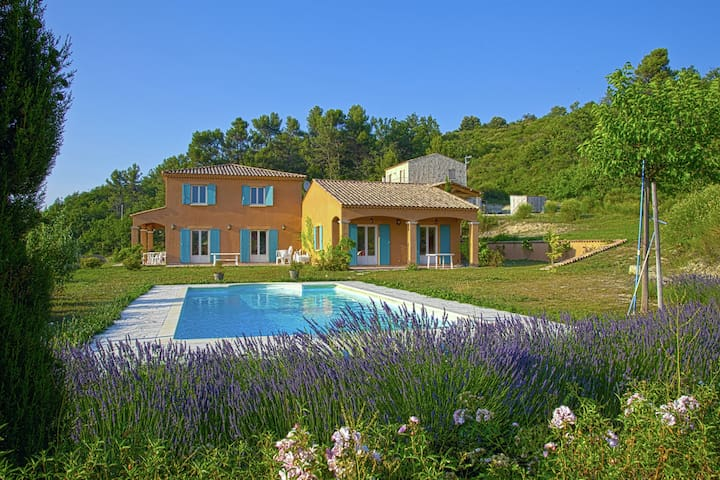 Spacious family villa with private pool and views over the rolling countryside