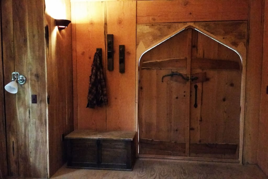 Entry Doors made from 1890's Log Cabin Planks