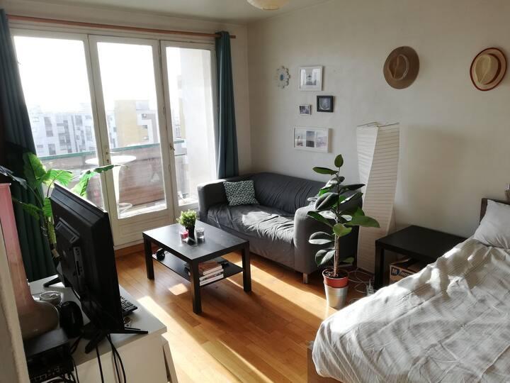 Charmant Appartement Lumineux avec Balcon (sud)