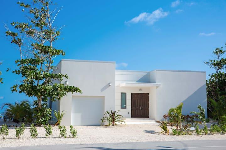 Blue Horizon: New Oceanfront Villa with Pool, Beach Pergola, & Stunning Views!