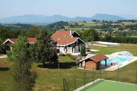 Maison Familiale Cocooning Tennis & Piscine - Les Abrets - Haus