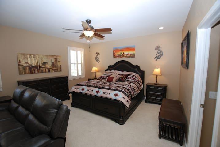 Master bedroom.  Bedroom # 6.   King Bed.