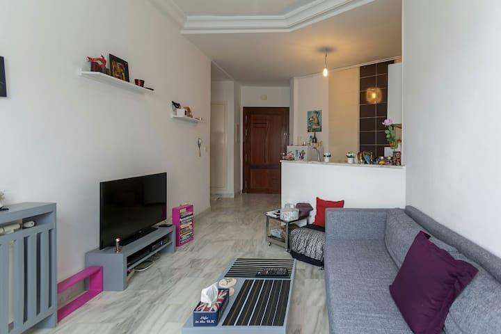 S+1 meublé dans un quartier calme - tunis - Apartament