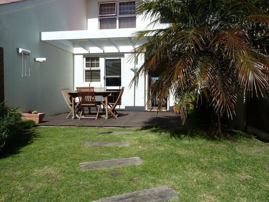 This is the garden deck - enjoy a barbeque under the stars