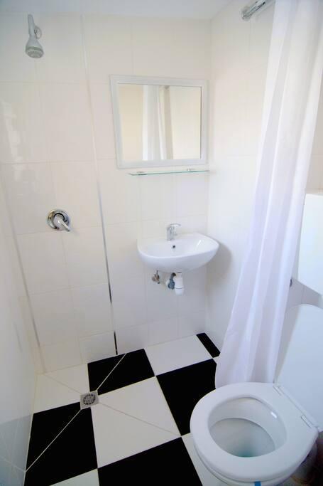 shiny and bright bathroom