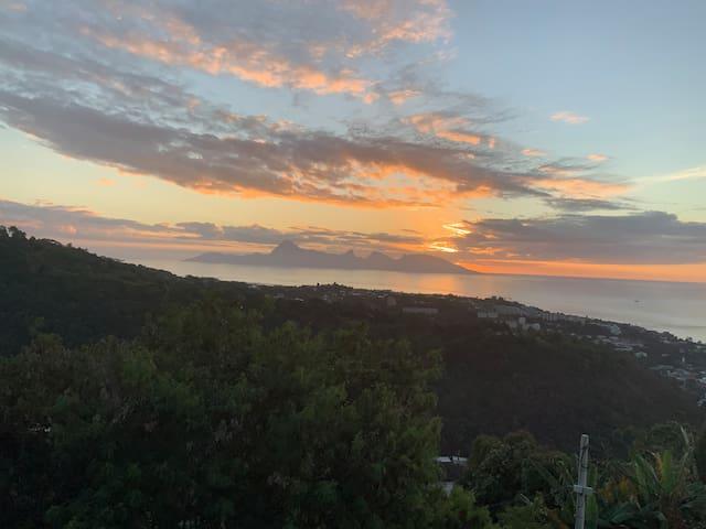 Bungalow vue mer, au calme, avec terrasse privée