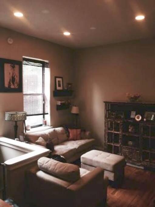 Living room pictured from opposite corner