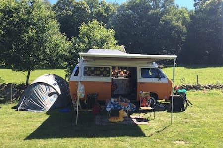 Hippie bussie op camping Buitenland (Drenthe)! - Nieuw-Amsterdam - Kisház