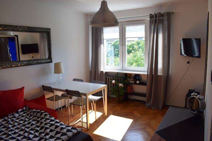 Samodzielny apartament 500 m od plaży w Jelitkowie
