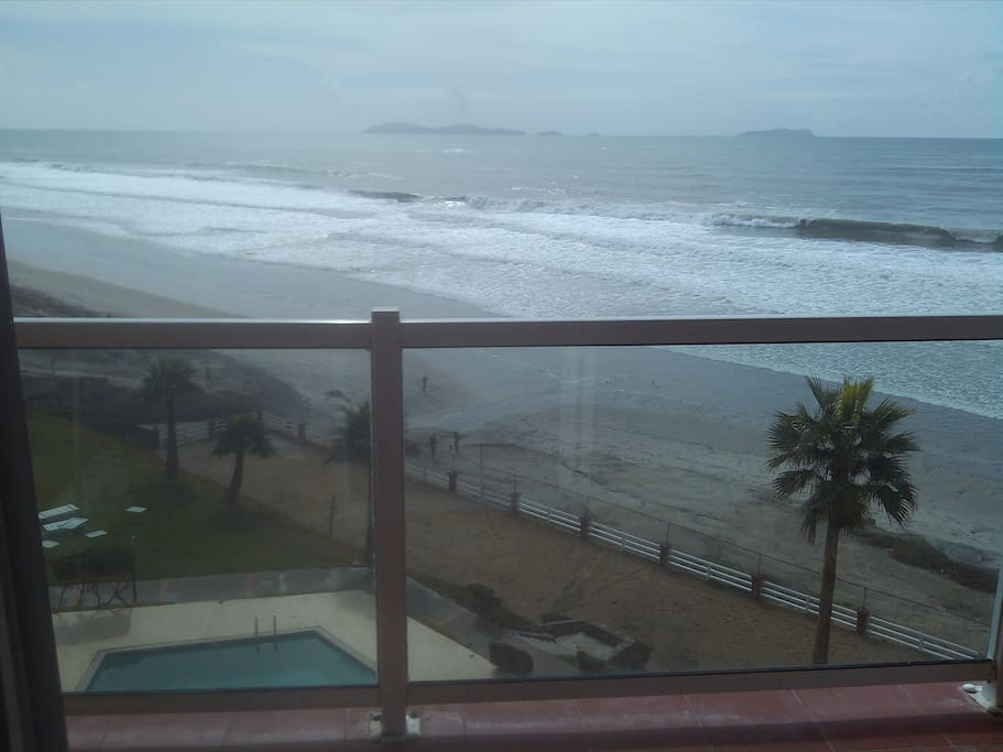 Balcony, Condo is on 5th floor facing the Pacific Ocean and Coronado Islands
