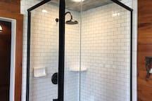 Master bath rain head shower