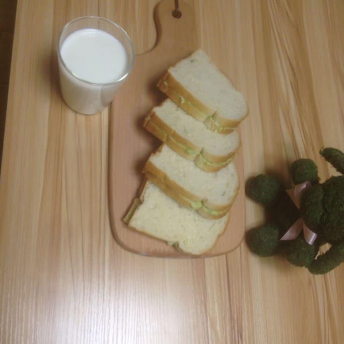 可以一起分享简单的早餐