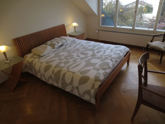 Great room with lake view in private house - Cologny - Hus