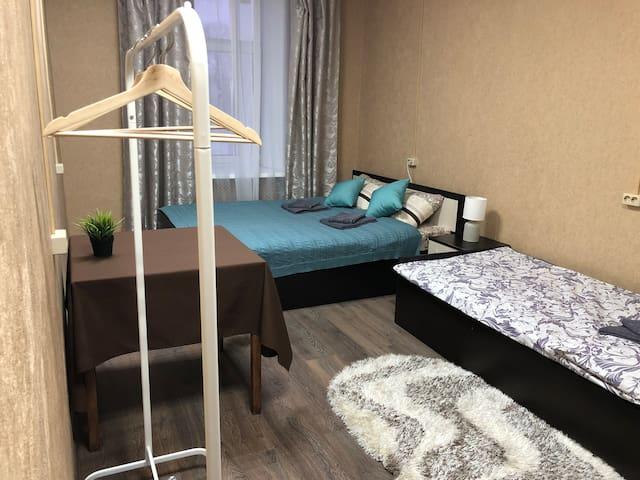 Уютный трехместный номер в центре Москвы