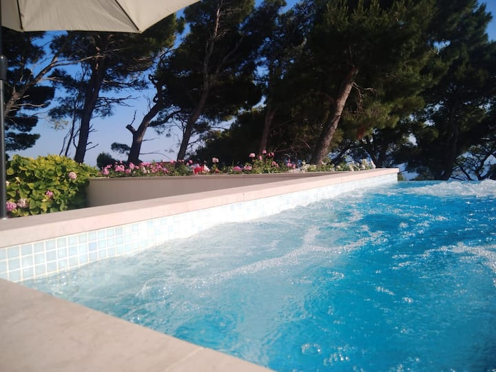 Makarska Hills 2+2 apartment/ private plunge-pool.