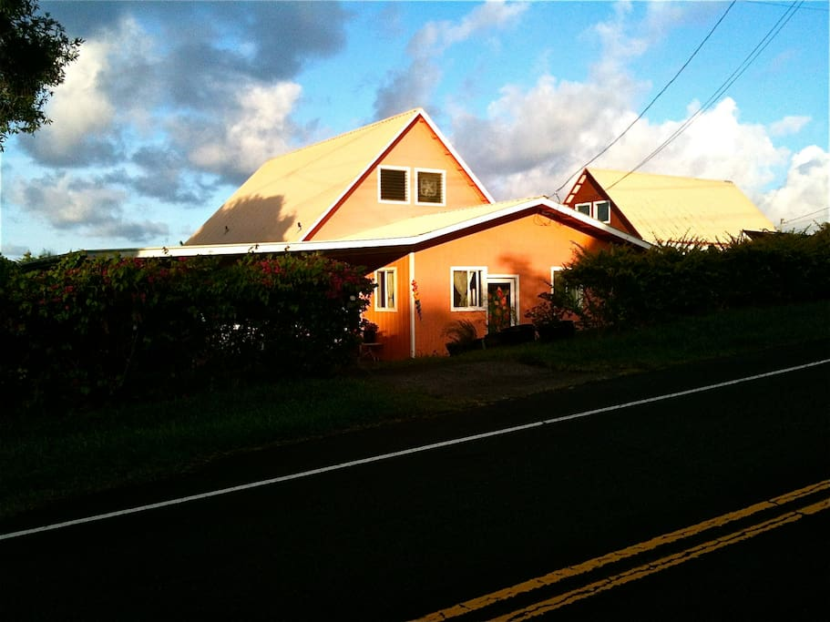 The house at sunset.