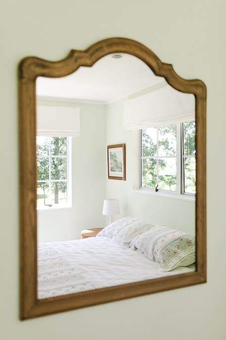 A light, airy room with pleasant rural views.