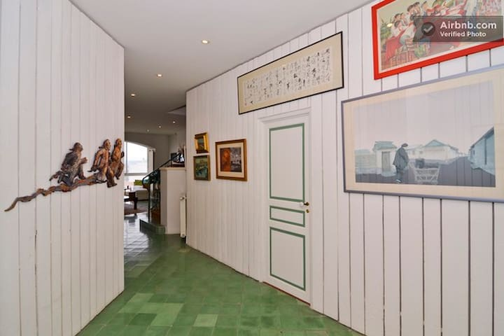 Entrance to your room (on the right)